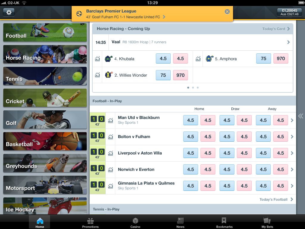 betting odds app