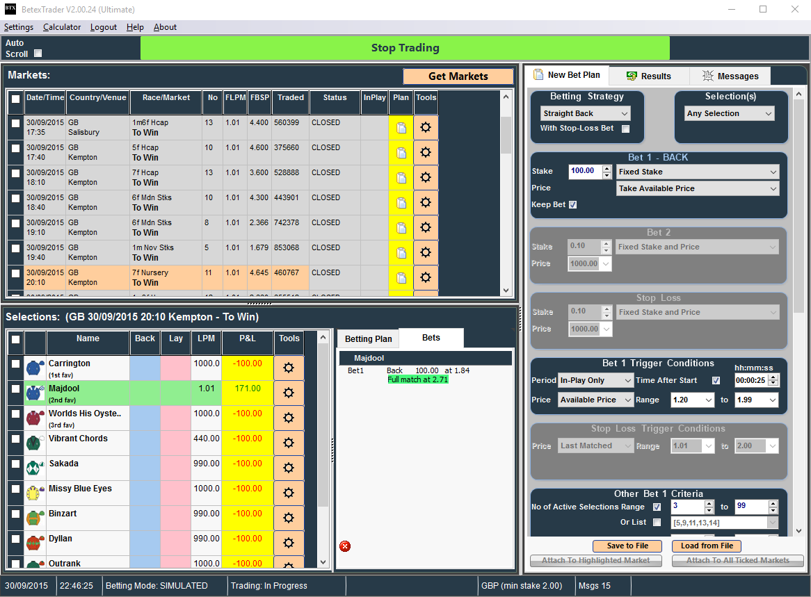 Spread Betting Software Automated