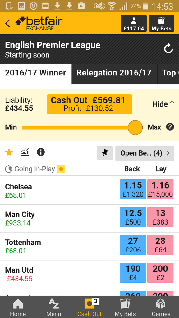 Betfair Betting